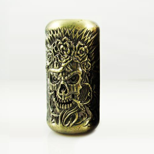 1 Voodoo Skulls Empaistic Copper Tattoo Grip - Tattoo Machine Supply-