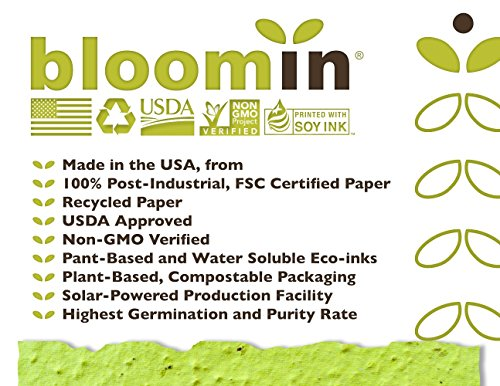 Bloomin Premium 12 pt. Seed Paper for Inkjet Printers - 75-90% Germination Rate - 8.5x11 Sheets (1 Pack- 100 Sheets) by Bloomin (Image #5)
