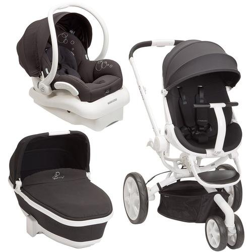 quinny moodd stroller travel system black irony with bassinet buy online in uae baby. Black Bedroom Furniture Sets. Home Design Ideas