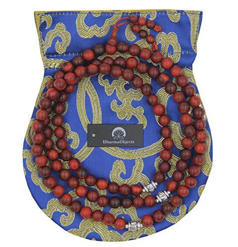 DharmaObjects Tibetan 108 Beads Rosewood Meditation Mala/Prayer Beads/Rosary ()