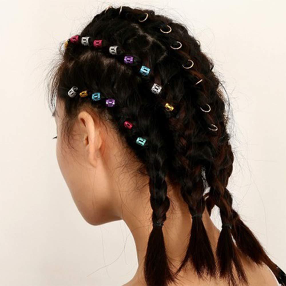 70 Pezzi Hair Extensions Beads Dreadlocks Tube,Perline Capelli Tube Beads Dreadlocks Beads Hair Braiding Gioielli Capelli Accessori Decorativi