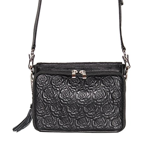 Embroidered Gun Black Purses Lambskin Mamas Concealed Carry Tote'n Leather HrHqA0