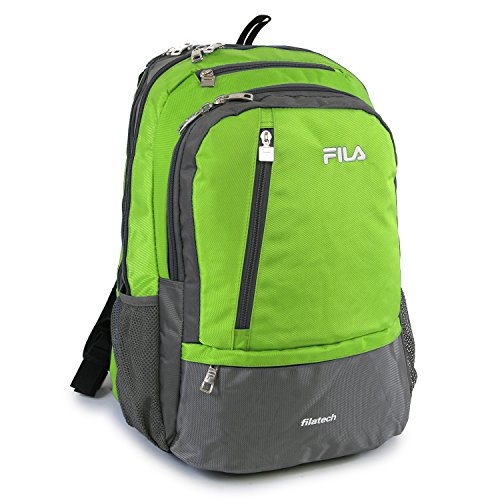 Fila Duel Tablet and Laptop Backpack, Lime Green