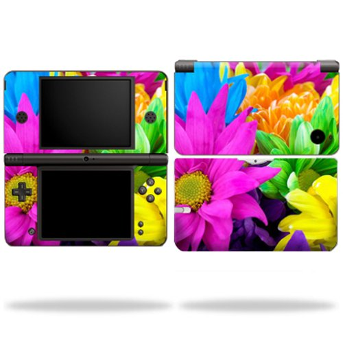 MightySkins Skin Compatible with Nintendo DSi XL wrap Sticker Skins Colorful Flowers