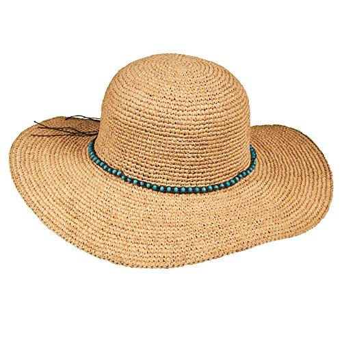 new-callanan-crocheted-raffia-straw-faux-turquoise-bead-band-floppy-sun-hat-cr198