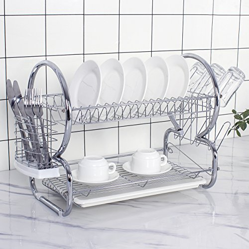 ADDMIRRE 2 Tier Rust Proof Quality Upgrading Dish Drying Rac