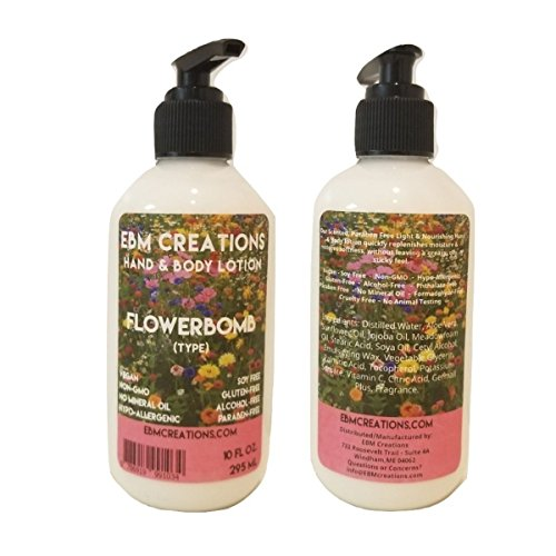 1-10oz Flowerbomb Type Hand & Body Lotion - Paraben Free! by EBM Creations