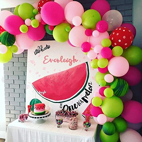 100 Pack Watermelon Party Decorations Balloon Garland & Arch Kit 100 Balloons for Wedding Baby Shower Birthday Party Backdrop