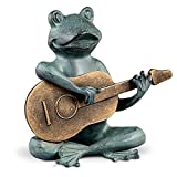 DermaPAD Frog Playing Guitar Garden Statue