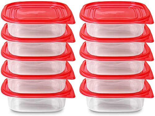Red Food Container - (750ml/25oz) - Red (20-Piece) - BPA Free - Reusable - Environment Friendly - Multipurpose Use for Home Kitchen or Restaurant - by Utopia Kitchen