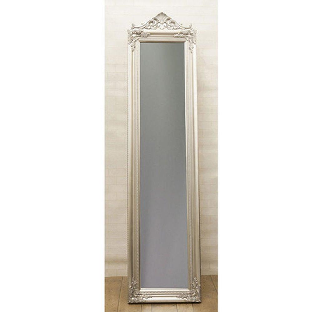 鏡 アンティーク調 チャーチルウッド フルレングスミラー ゴージャス:int-ak-cm15-003cyj (シルバー) B01CDURDFOシルバー