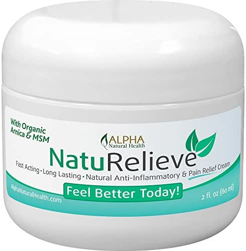 Organic Arnica & MSM Natural Pain Relief Cream Without All the Chemicals. Topical Analgesic. Other Benefits: Insect Bites, Poison ivy