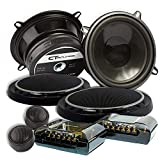 "CT SOUNDS 5.25 Inch Car Audio Component Speakers Set - 2-Way Full Range, 0.75"" Voice Coil, 19mm Silk-Dome Tweeter, 240W Peak Power, Rubber Surround Cone with Protection Grills - Strato 2-Way 6.5 Inch"