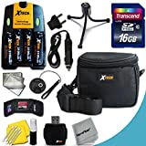 Ideal Accessory Kit for Nikon Coolpix L840 L830 L820 L810 L620 L610 L320 L32 L31 L30 L28 L26 L24 L22 L20 L19 Digital Cameras Includes 16GB High Speed Memory Card + 4 AA High Capacity 3100mAh Rechargeable Batteries with Quick AC/DC Charger + [並行輸入品]