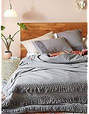 Fringed Duvet Cover Comforter Cotton Tassel Quilt Cover Boho Bedding