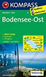 Bodensee Ost: Wanderkarte mit Aktiv Guide, Radwegen und Panorama. GPS-genau. 1:50000 (KOMPASS-Wanderkarten)