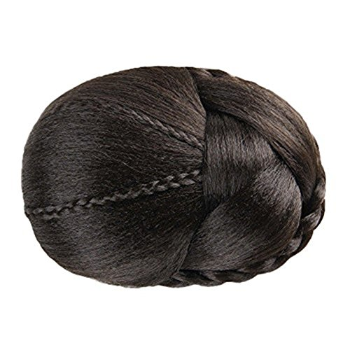 Wig,Baomabao Hair Braided Wig Bun (Brown) (Hats With Hair Attached)
