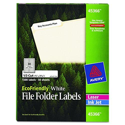 Avery EcoFriendly Folder Labels 45366