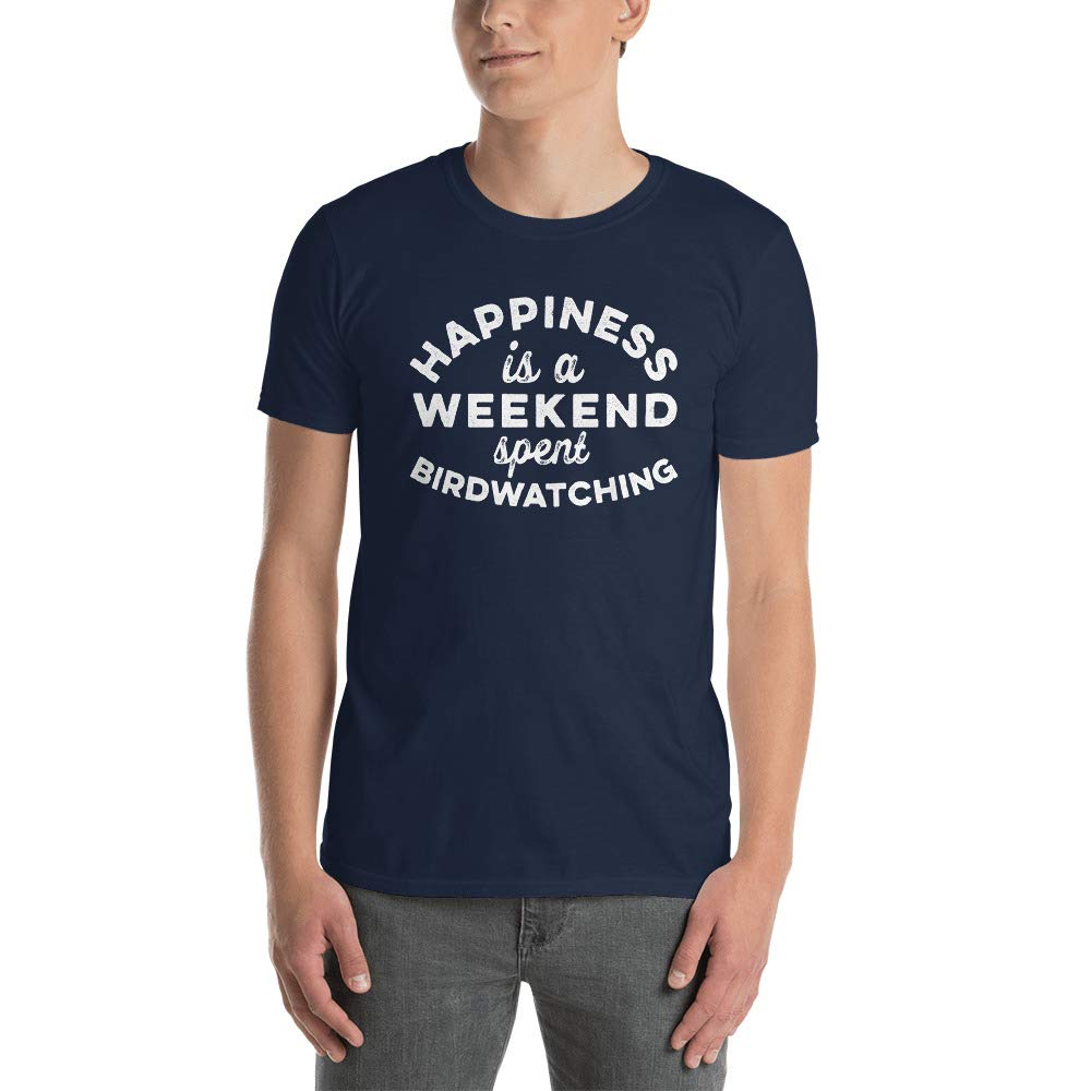Funny Bird Watching Short Sleeve Unisex T Shirt M12
