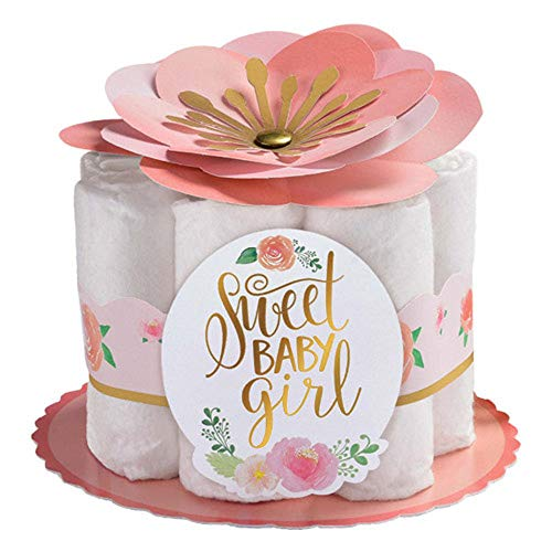Baby Shower 'Sweet Floral' Mini Diaper Centerpieces Kit - Shower Baby Centerpiece Diaper