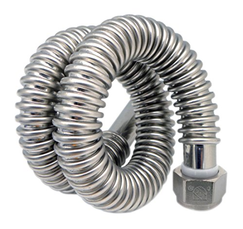 (Easyflex EFWC-034-SS-1010-18 Stainless Steel 034 Series Water Heater Connectors, 3/4