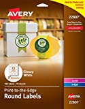 Avery Round Labels, Glossy White, 2-inch Size, 180 Labels – Great for Canning Labels and Mason Jars (44807)