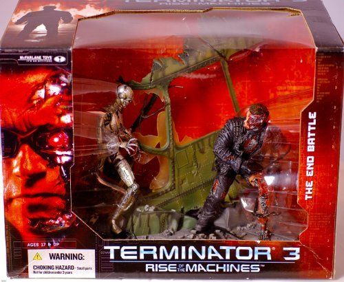 2003 Terminator (2003 - McFarlane Toys - Terminator 3 : Rise of the Machines - Deluxe Boxed Set: The End Battle - Custom Helicopter Diorama Base - New - Out of Production - Limited Edition - Collectible by Terminator 3)