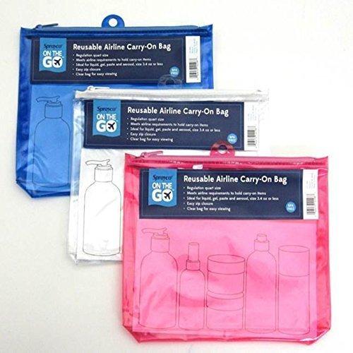 Sprayco CO298 Quart Size Travel Bag Assorted Colors by Sprayco