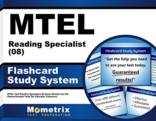 MTEL Reading Specialist (08) Flashcard Study System: MTEL Test Practice Questions & Exam Review for the Massachusetts Tests for Educator Licensure (Cards) (Reading Massachusetts)