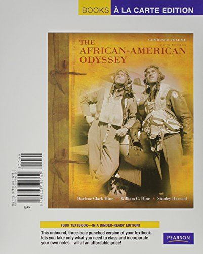 African-American Odyssey, The, Combined Volume, Books a la Carte Edition (5th Edition)