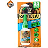 Gorilla Super Glue Gel, 20 Gram, Clear - 2 Pack