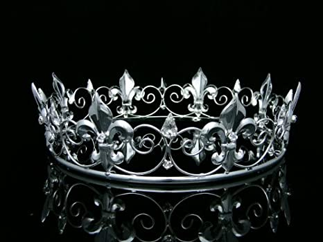 86a6c105426 Buy Men's Full King's Crown for Theather Prom Party - Clear Crystals ...