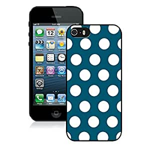 Hard Shell Cover Polka Dot Dark Green and White Iphone 5 5s Case Black Cover