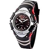 Time100 Multifunction LCD Fancy Silver Bezel Digital Watches#W40001M.01A