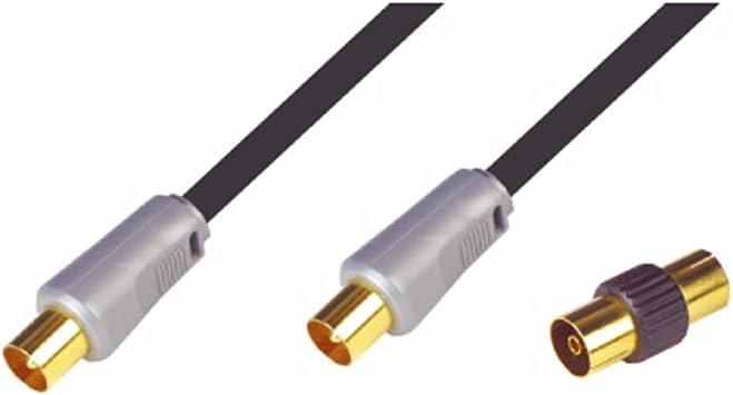 NIKKAI – Alta calidad coaxial cable de antena TV cable oro 1,5 ...