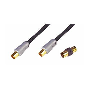 NIKKAI – Alta calidad coaxial cable de antena TV cable oro 1,5 m