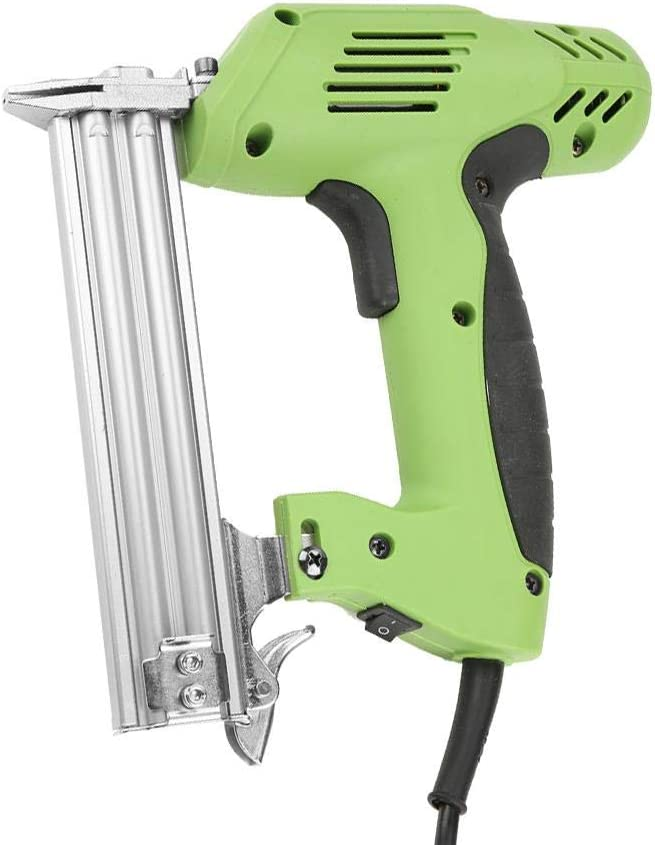 Pistola de Clavos, Clavadora Eléctrica de Alta Resistencia 220V 1800W 100 Clavos Herramienta de Clavado Manual de 30/min, Ergonómica y Sin Necesidad de Bomba de Aire para Techos Fabricación de Muebles