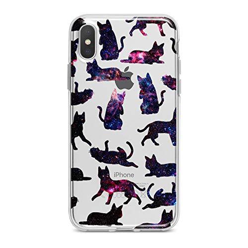 (Lex Altern TPU iPhone Animal Xs Max Case Xr X 8 Plus 7 6s 6 SE 5s 5 Funny Cats Black Pattern Apple Phone Cute Cover Silicone Elegant Print Pet)