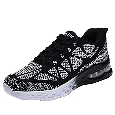JARLIF Men's Road Running Sneakers Fashion Sport Air Fitness Workout Gym Jogging Walking Shoes US6.5-12