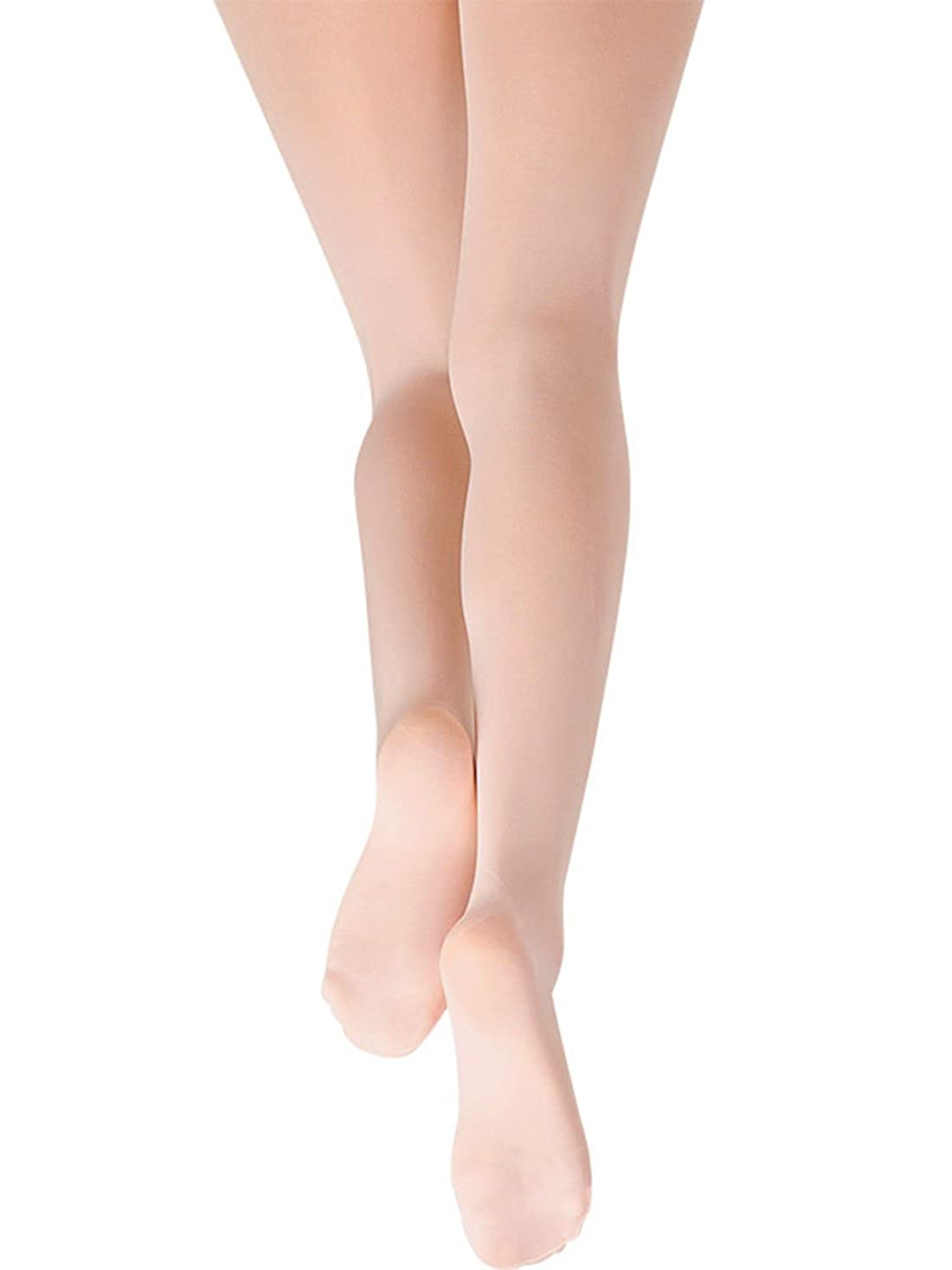 FEOYA Girls Ballet Tights Cotton Stretch Footed Stocking Dance Legging