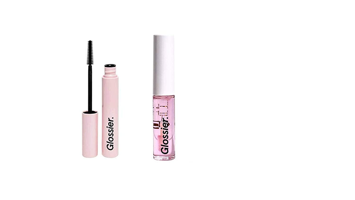 df811b9b16c Amazon.com : Glossier Lip Gloss Lash Slick Set! Glossier Lip Gloss Clear  Size 0.14 fl oz / 4.2 ml! Glossier Lash Slick Size 8.5 g/0.29 oz Shade Black !