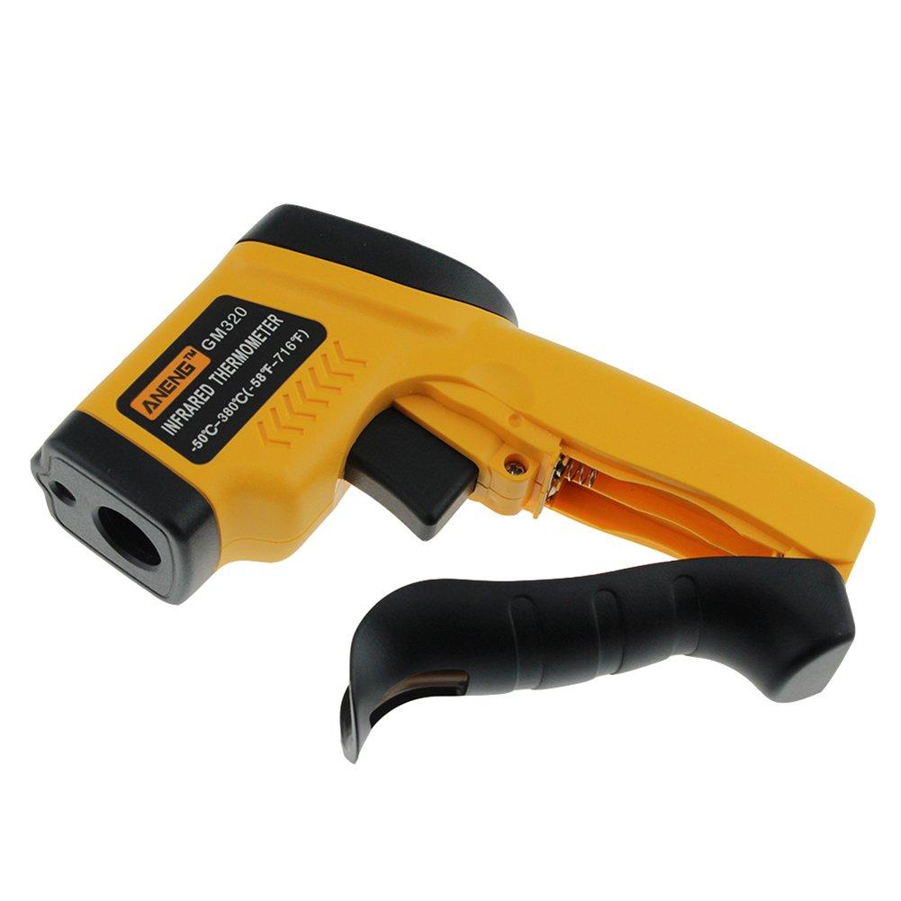 prettygood7 GM320 Ber/ührungslose LCD IR Laser Infrarot Temperatur Thermometer Pistole