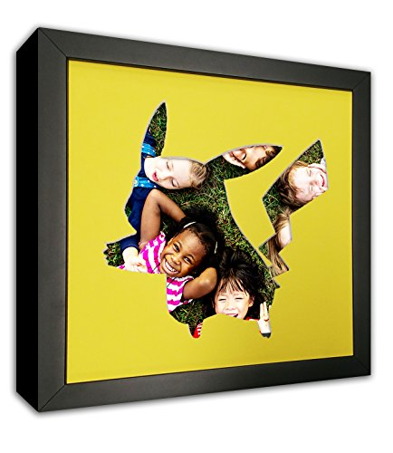 Pikachu Picture Mat in Frame - Made to Display Your 4x4 (Pokemon Photo)
