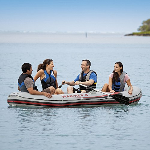 Intex Mariner 4, 4-Person Inflatable Boat Set with Aluminum Oars and High Output Air Pump (Latest Model) by Intex (Image #4)