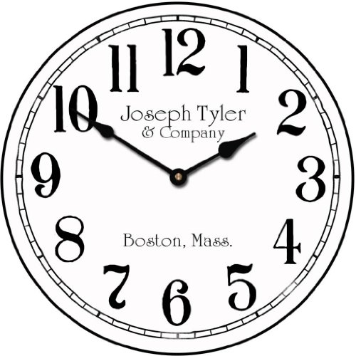 wall clock open face - 1