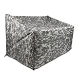 TRUESTAR Patio Sofa Cover, Durable and Waterproof Outdoor Veranda Furniture Cover, Patio Loveseat Covers W/Non Woven and Oxford Fabric Material, Eco-Friendly,Fade Resistant
