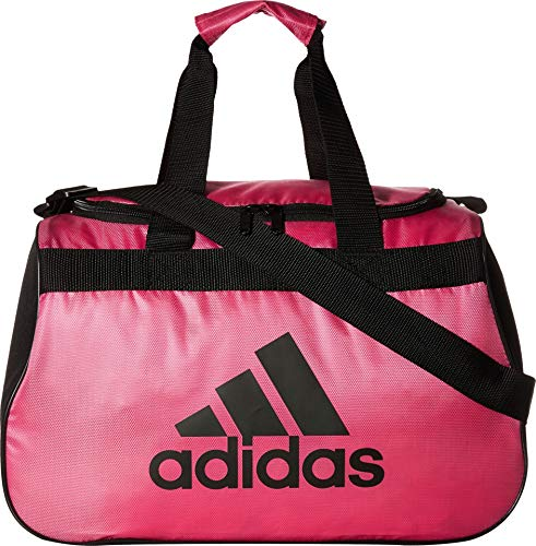 adidas Limited Edition Diablo Small Duffel Gym Bag in Bold Colors - (Intense Pink/Black)