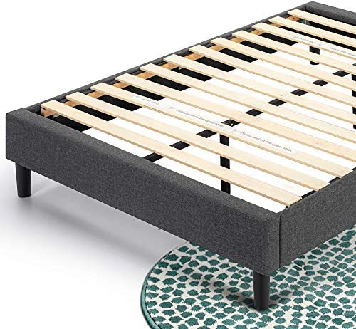 ZINUS Curtis Upholstered Platform Bed Frame / Mattress Foundation / Wood Slat Support / No Box Spring Needed / Easy Assembly, Grey, Full 51h8j 2BDBc 2BL
