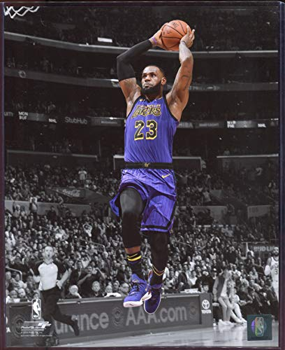 Officially Licensed LeBron James Los Angeles Lakers Spotlight Dunk 8x10 Photo with Toploader