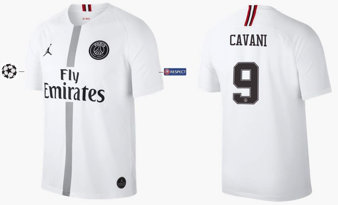 PSG Trikot Kinder 2018-2019 Third Weiß UCL - Cavani 9